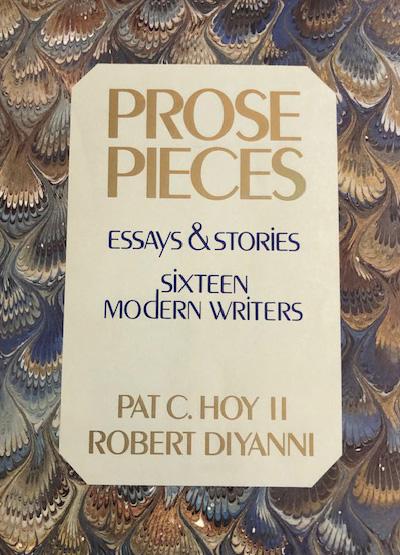 Prose Pieces Sixteen Modern Writers